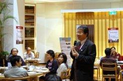 蔣教務長分享飛雁計畫的精神